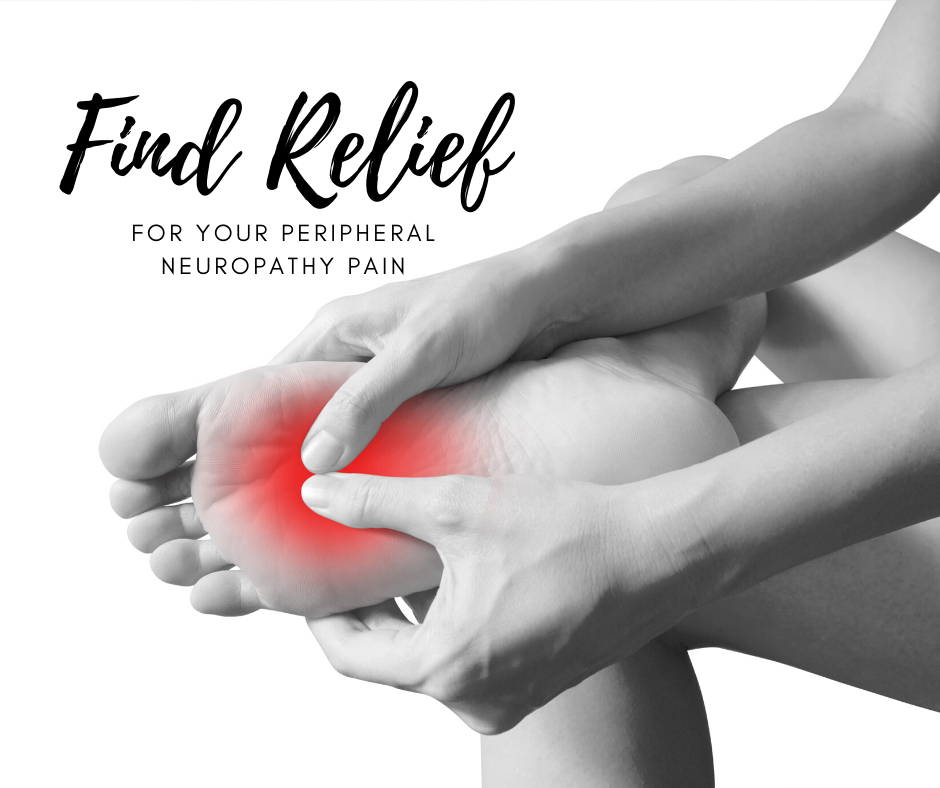woman holding her foot who is suffering from Peripheral Neuropathy Pain